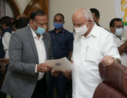 Shri B S Yediyurappa, Hon'ble Chief Minister accepted…